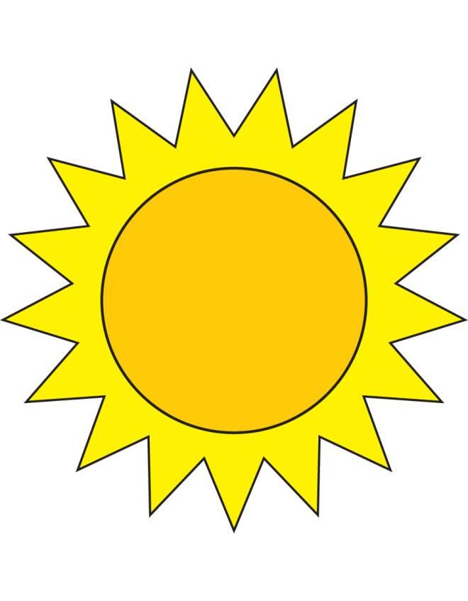 Disegno di il sole a colori per bambini for Sole disegno da colorare
