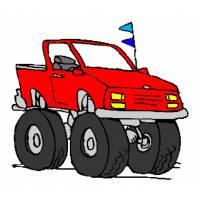 Disegno di l 39 auto e la buca da colorare per bambini for Jeep da colorare