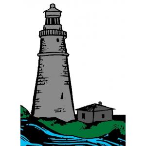 Disegno di Il Faro a colori