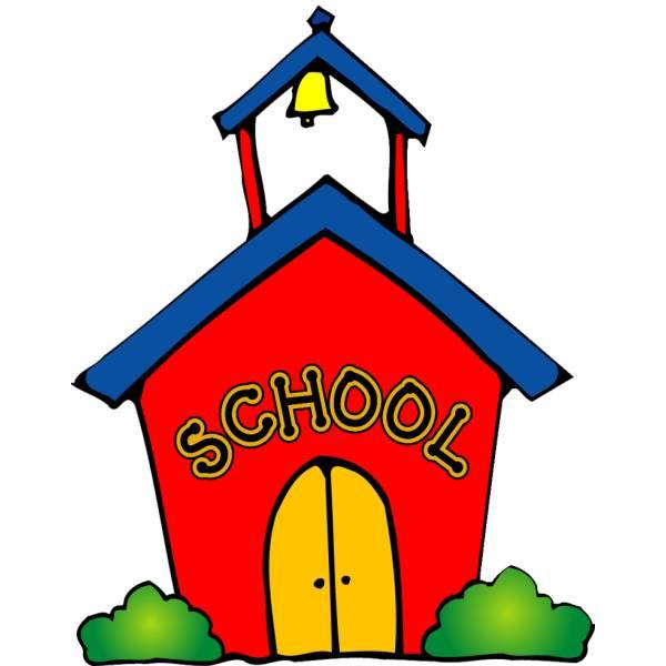 Disegno di la scuola a colori per bambini