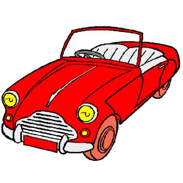 Disegno di Macchina Cabrio a colori
