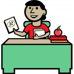Disegno di La Maestra a colori