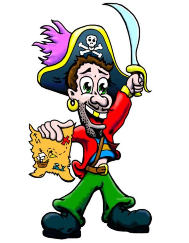 Disegno di pirata a colori per bambini - Pirata immagini da colorare i pirati ...