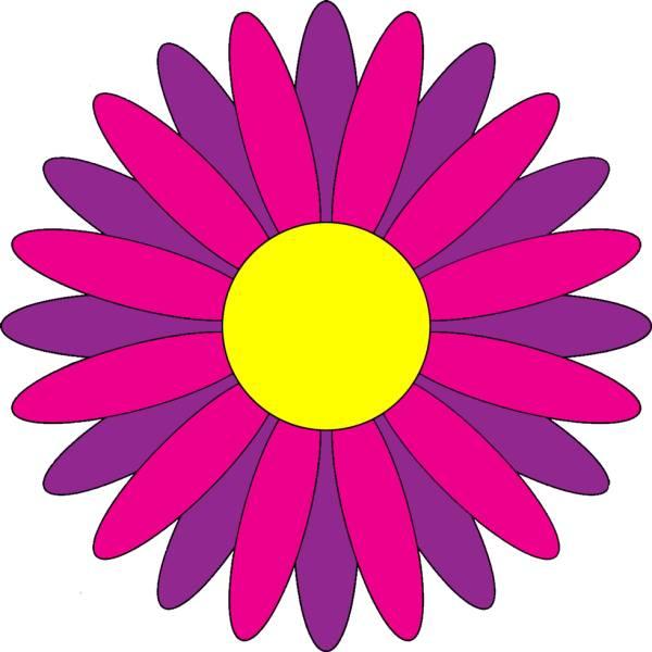 Disegno di margherita a colori per bambini for Fiori stilizzati colorati
