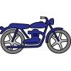 Disegno di La Moto a colori