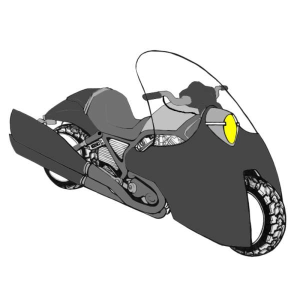 Disegno di Moto da Corsa a colori