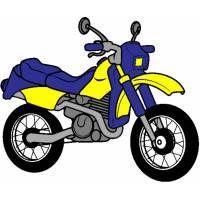 Disegno di La Motocicletta a colori