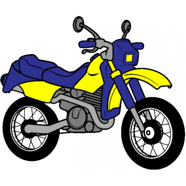 Disegno di la motocicletta a colori per bambini