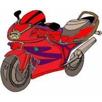 Disegno di Motocicletta da Corsa a colori