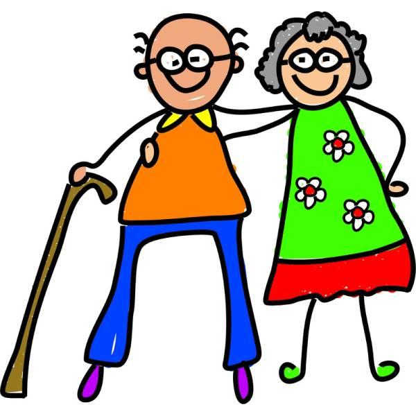 Disegno di Nonni a colori