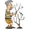 Disegno di Nonno Giardiniere a colori