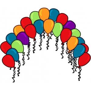 Disegno di palloncini colorati a colori - Immagine con palloncini ...