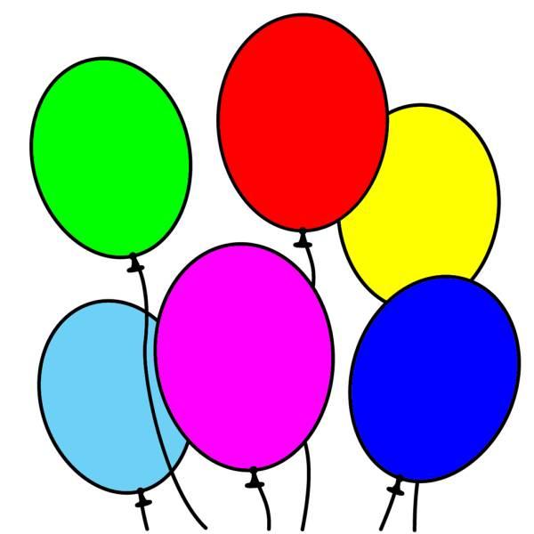 Disegno di palloncini a colori per bambini - Immagine con palloncini ...
