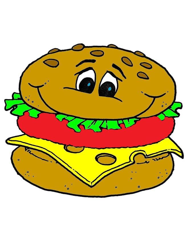 Disegno di panino a colori per bambini