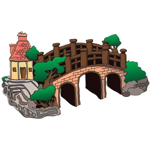 Disegno di il ponte a colori per bambini for Disegni di ponte anteriore