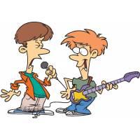 Disegno di Rock Band a colori