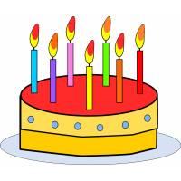 disegno di Torta Buon Compleanno a colori