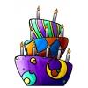 Disegno di Torta di Compleanno a colori