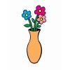 Disegno di Vaso con Fiori a colori