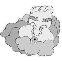 disegno di Vento e Nuvole a colori