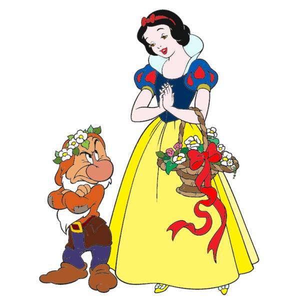 Disegno di Biancaneve a colori
