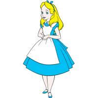 disegno di Alice a colori