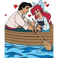 Disegno di Ariel e Eric Innamorati a colori