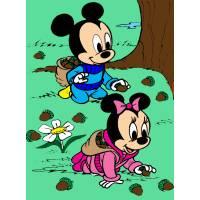 Disegno di Baby Minnie e Topolino a colori