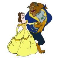 Disegno di La Bella e la Bestia Ballo a colori
