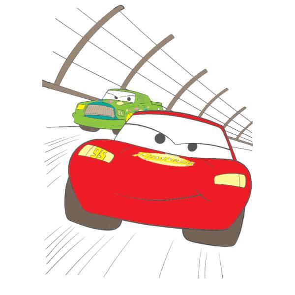 Disegno di Cars La Gara a colori
