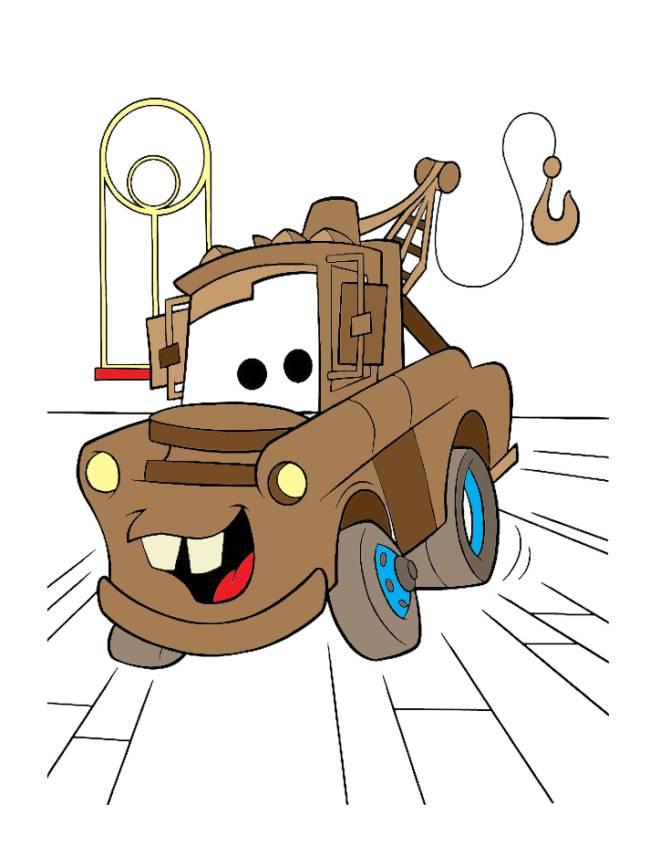 Disegno di cricchetto cars a colori per bambini - Disegno di immagini di veicoli ...