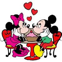 Disegno di Minnie e Topolino Innamorati a colori