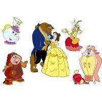 Disegno di I Personaggi de La Bella e La Bestia a colori