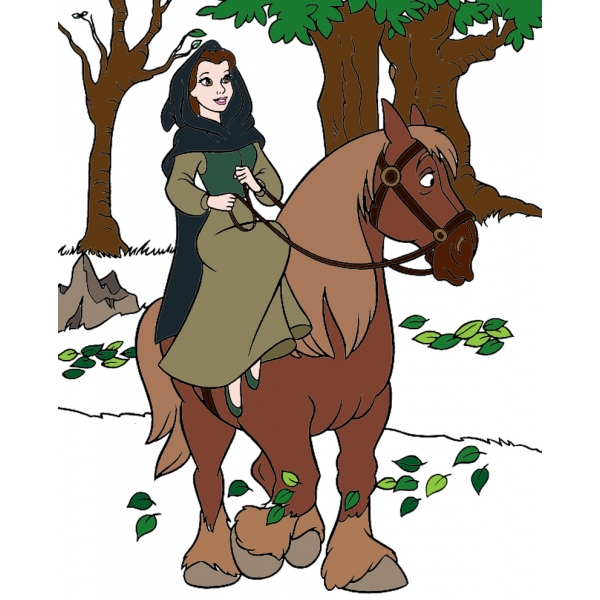 Disegno di Belle a Cavallo a colori