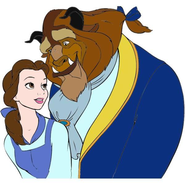 Disegno di la bella e la bestia a colori per bambini for Disegni la bella e la bestia