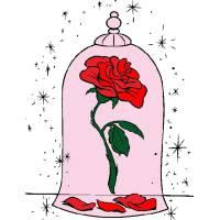 Disegno di La Rosa della Bella e La Bestia a colori