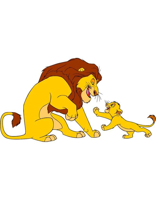disegno di Mufasa e Simba Il Re Leone a colori