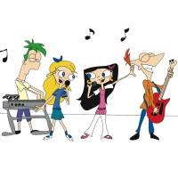 disegno di Phineas e Ferb Musica a colori