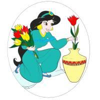 disegno di Principessa Jasmine Aladdin a colori