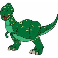 Disegno di Rex Dinosauro Toy Story a colori