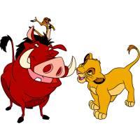 Disegno di Simba Timon e Pumbaa a colori