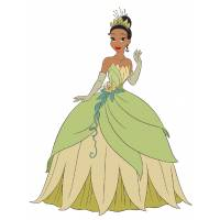Disegno di La Principessa Tiana a colori