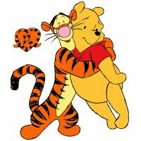 Disegno di Tigro e Winnie Pooh Amici a colori