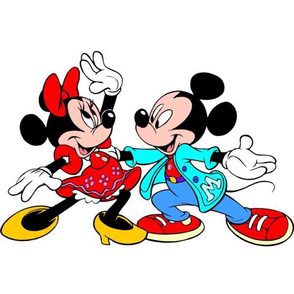 Disegno di Topolino e Minnie Ballerini a colori