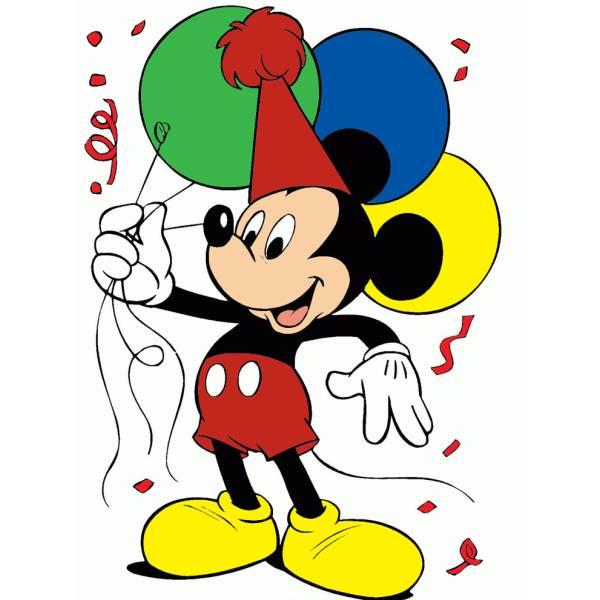 Disegno di topolino con i palloncini a colori per bambini