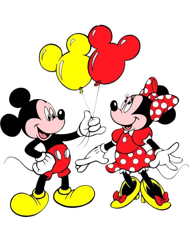 Disegno di topolino e minnie a colori per bambini