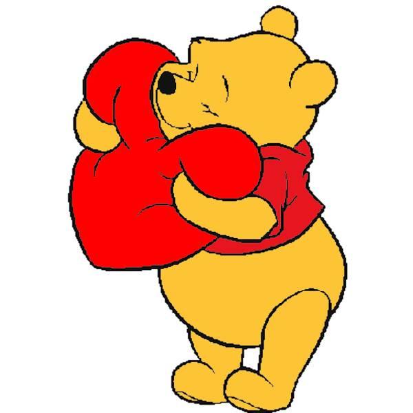 Disegni Di Natale Winnie Pooh.Disegno Di Winnie Pooh Con Il Cuore A Colori Per Bambini