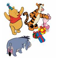 Disegno di Winnie Pooh e i suoi Amici a colori