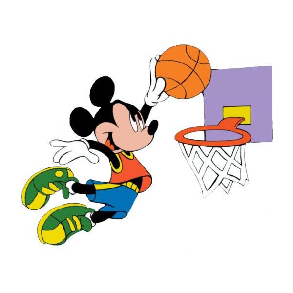 Disegno di Topolino e il Basket a colori
