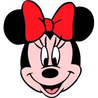 Disegno di Minnie Allegra a colori